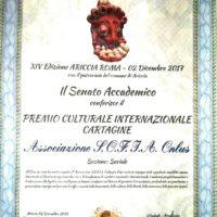 PREMIO CULTURALE CARTAGINE